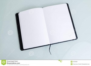 clean-open-notebook-paper-black-cover-horizontal-lines-white-background-45292056